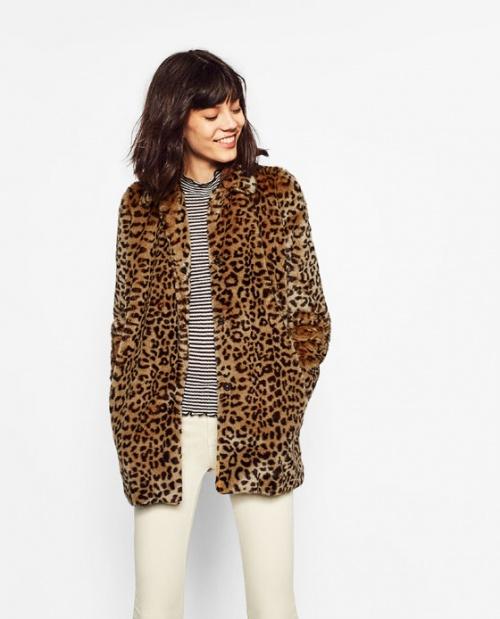 Zara - Manteau  imprimé léopard
