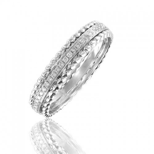 Adamence  bague de fiançailles diamants