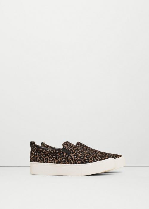 Mango - Slip on motif léopard