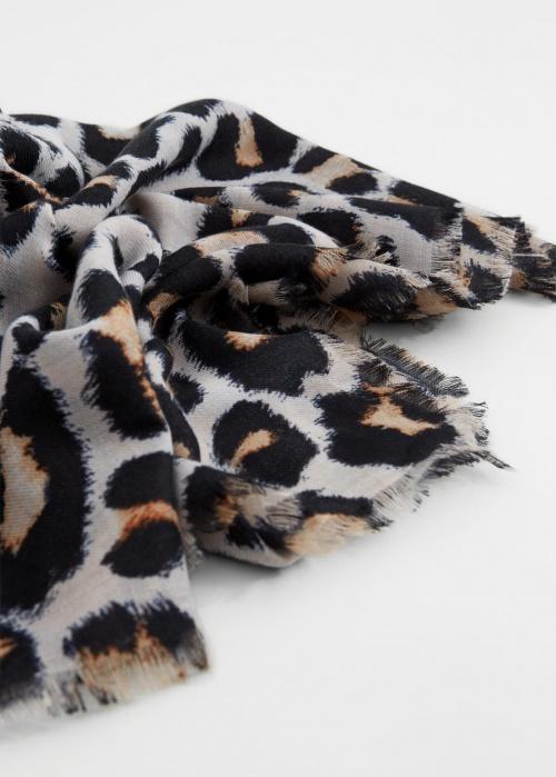 Mango - Foulard imprimé léopard
