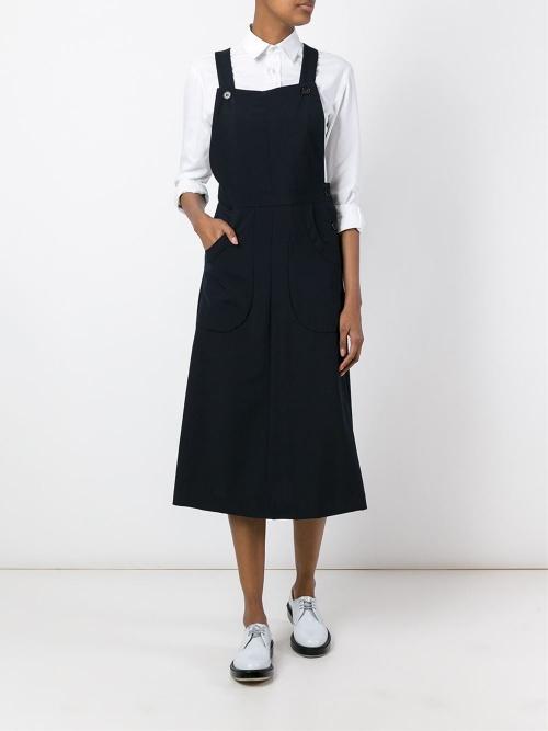 Comme Des Garçons Vintage - Robe salopette longue