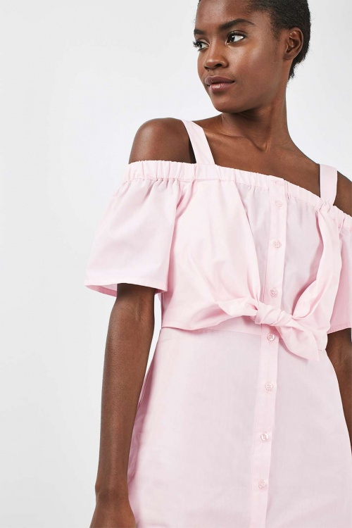 Topshop robe droite rose