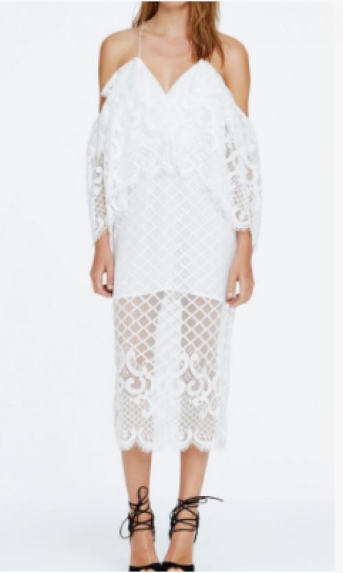 Alice McCall  robe blanche longue décolleté épaules