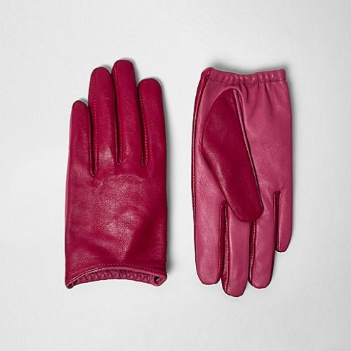 River Island gants fuschia