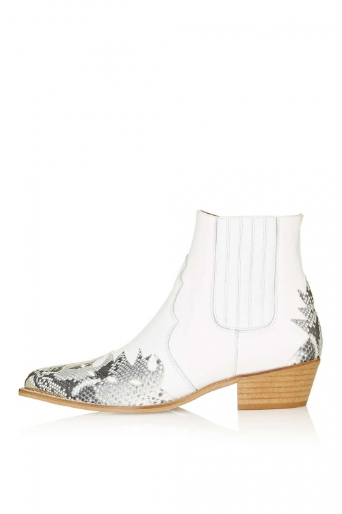 Topshop boots western blanche