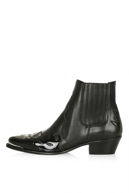 Topshop boots vernis noires