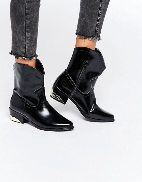 Daisy Street bottines talon metal