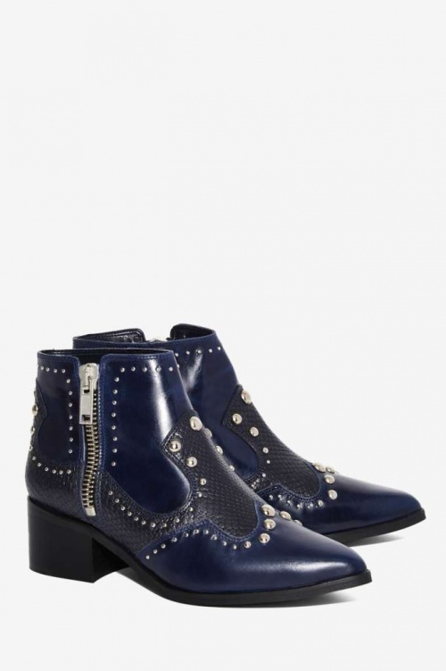 Nasty Gal  boots santiag bleues