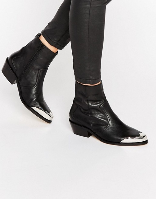 Asos bottines western metal