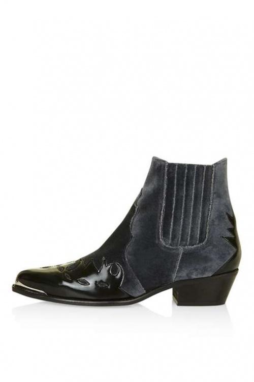 Topshop boots western noires