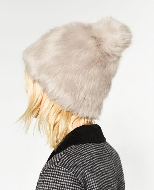 Zara bonnet fourrure
