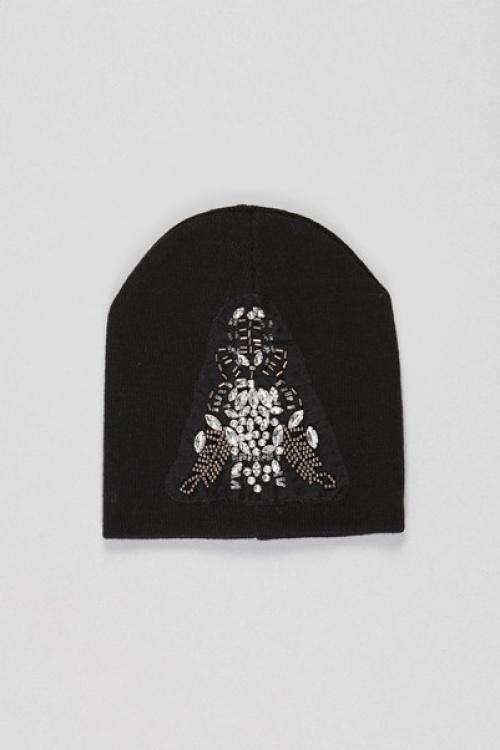 Pieces bonnet noir strass