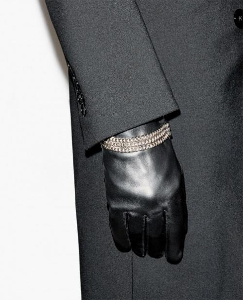The Kooples gants cuir orné chaines