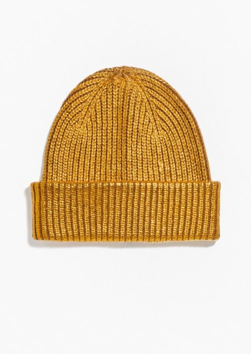 & Other Stories bonnet jaune doré