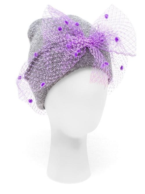 Silver Spoon Attire bonnet voilette violettte