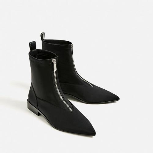Zara boots bout empiècement