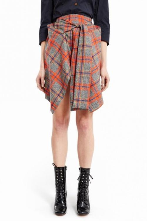 Vivienne Westwood  jupe carreaux à noeud