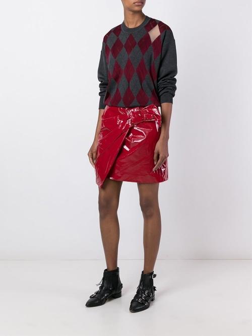 Isabel Marant jupe courte noeud vinyle
