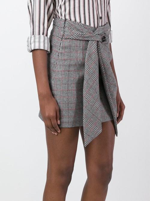 Isabel Maran jupe motif carreaux à noeud