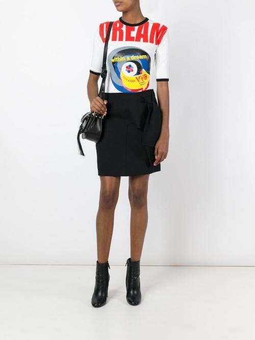 Victoria Beckham  jupe noire noeud coté