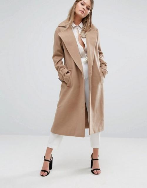 Fashion Union  manteau long beige