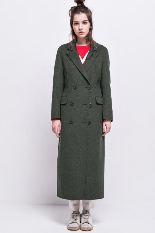 Front Row Shop manteau long gris