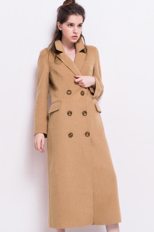 Front Row Shop manteau long beige