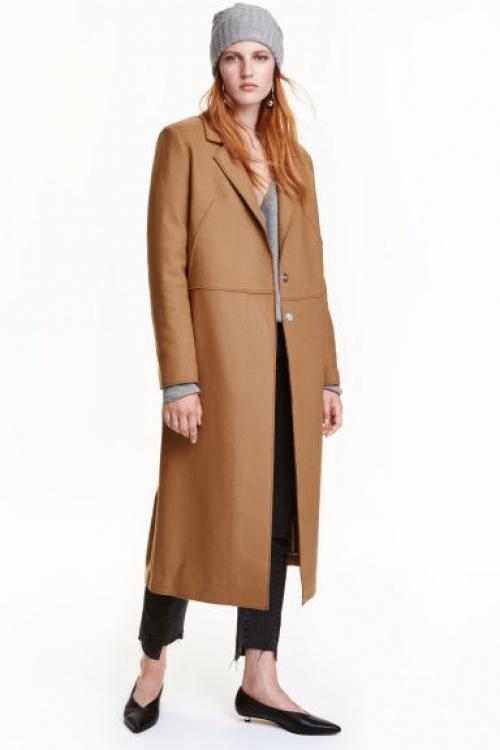 H&M manteau long beige