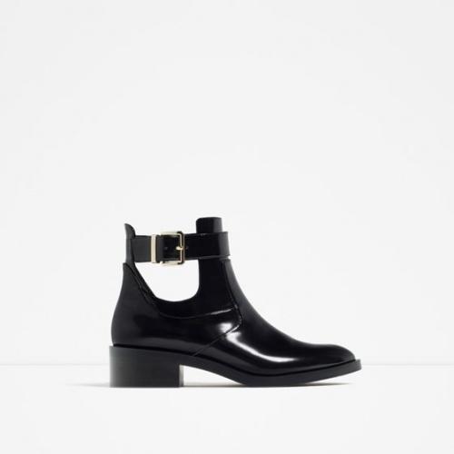 Zara bottines ajourées boucles