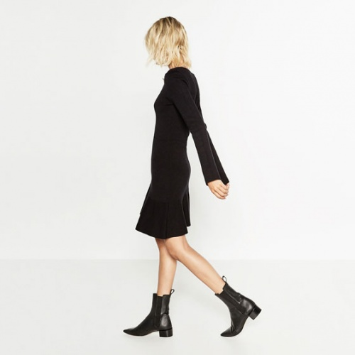 Zara bottines cuir à bouts pointus