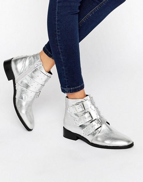 Asos boots argentées