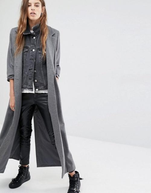 Religion  manteau long gris