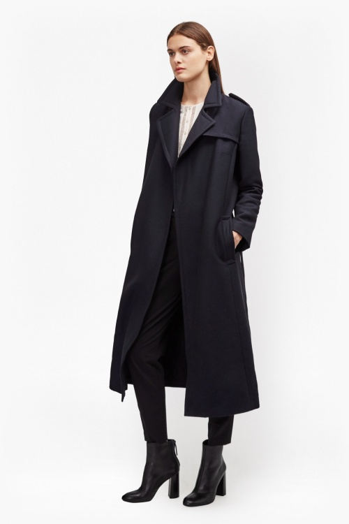 French Connection  manteau long style capitaine