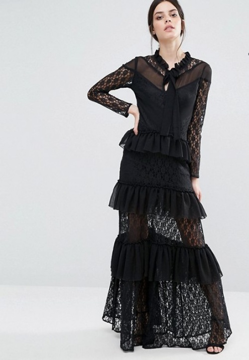 True Decadence robe longue dentelle
