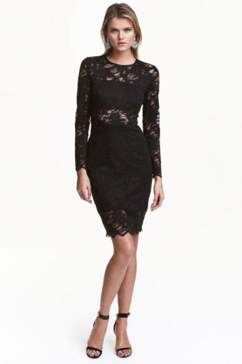 H&M robe noire dentelle