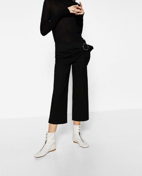 Zara - Pantalon boucle ceinture