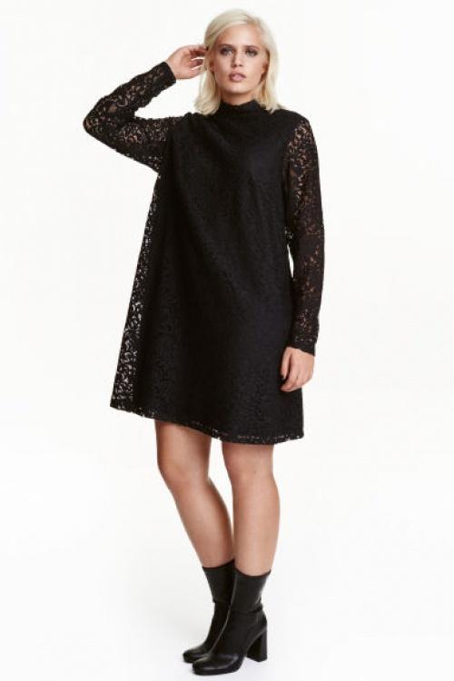 H&M curve robe dentelle