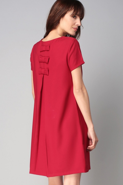 Molly Brackens robe rouge dos noeuds