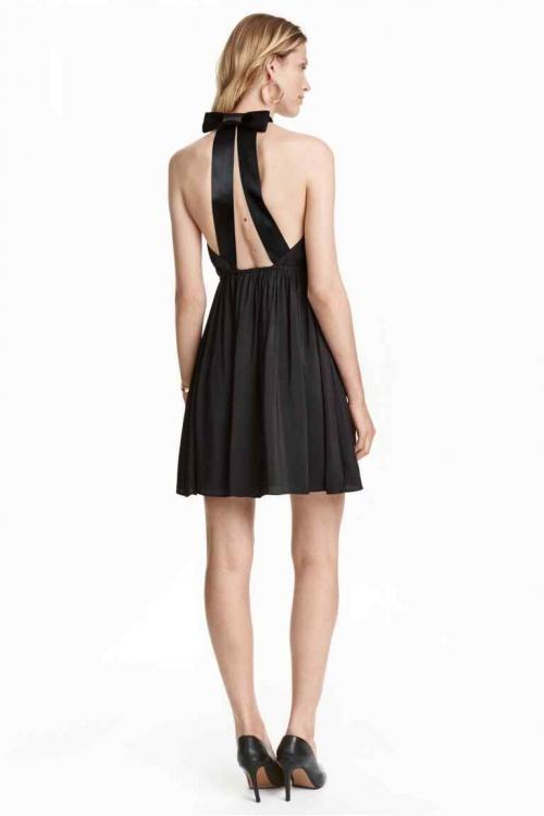 H&M robe dos nu avec noeud