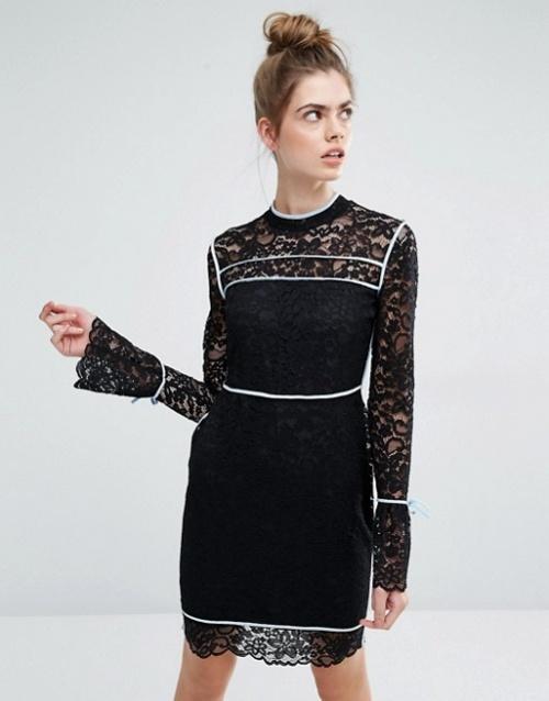 Sportmax Code robe noire et blanche