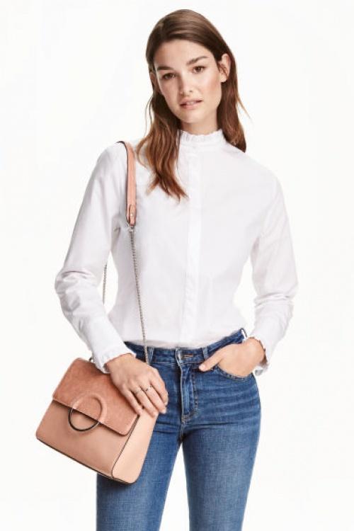 H&M - sac rose pale à boucle