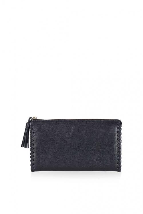 Topshop  portefeuille lacé sur les côtés à pompon