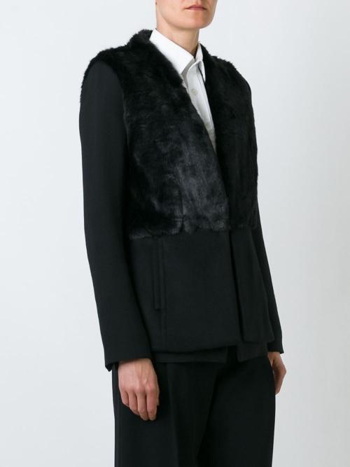 Michael Kors veste sans manches fourrure
