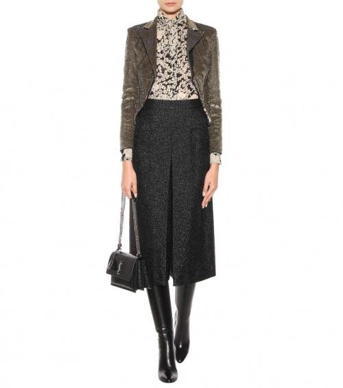 Saint Laurent jupe culotte imprimée