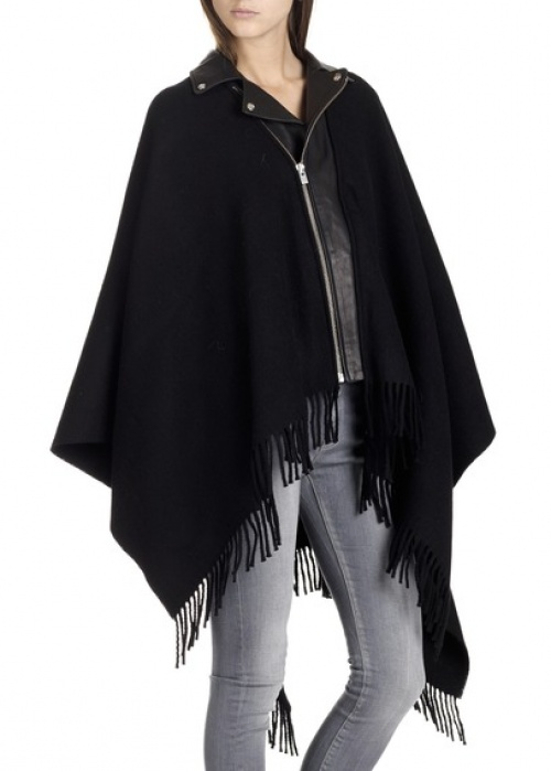 The Kooples cape manteau façon perfecto
