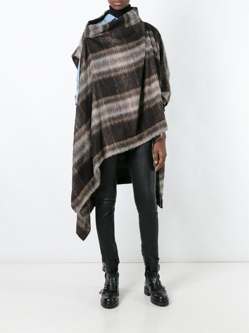 Vivienne Westwood poncho à carreaux laine