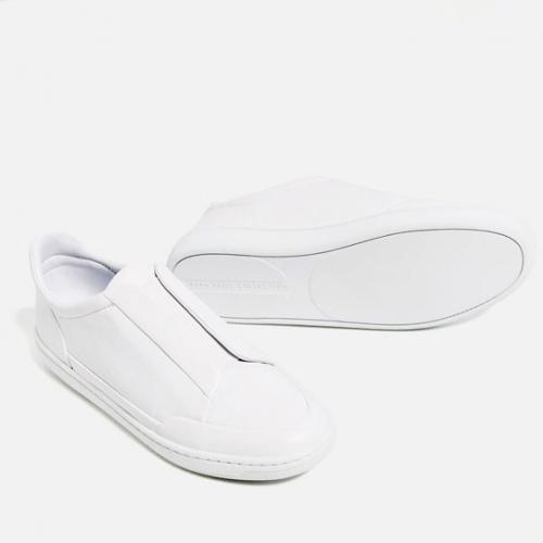 Zara slip on blanches