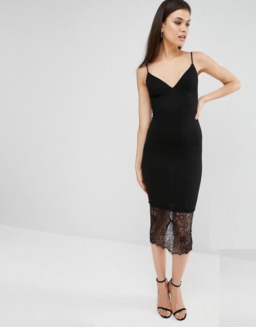 Missguided  robe nuisette à ourlet volanté