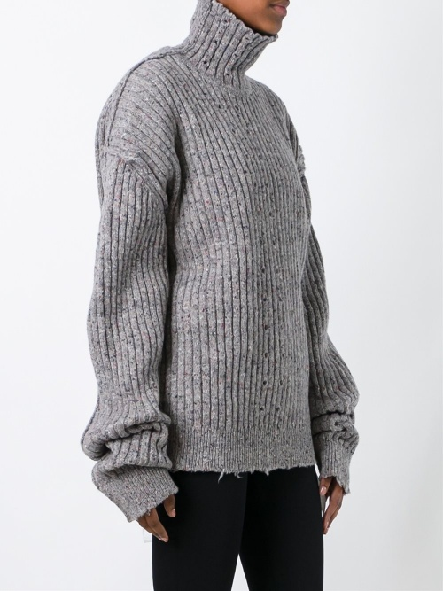 Damir Doma pull oversize gris manches oversizes
