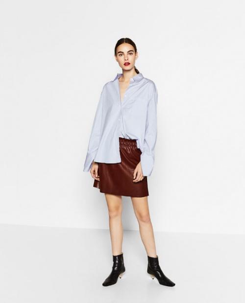 Zara mini jupe bordeaux